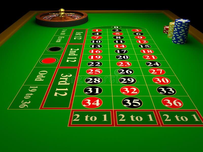De Roulette van het casino vector illustratie