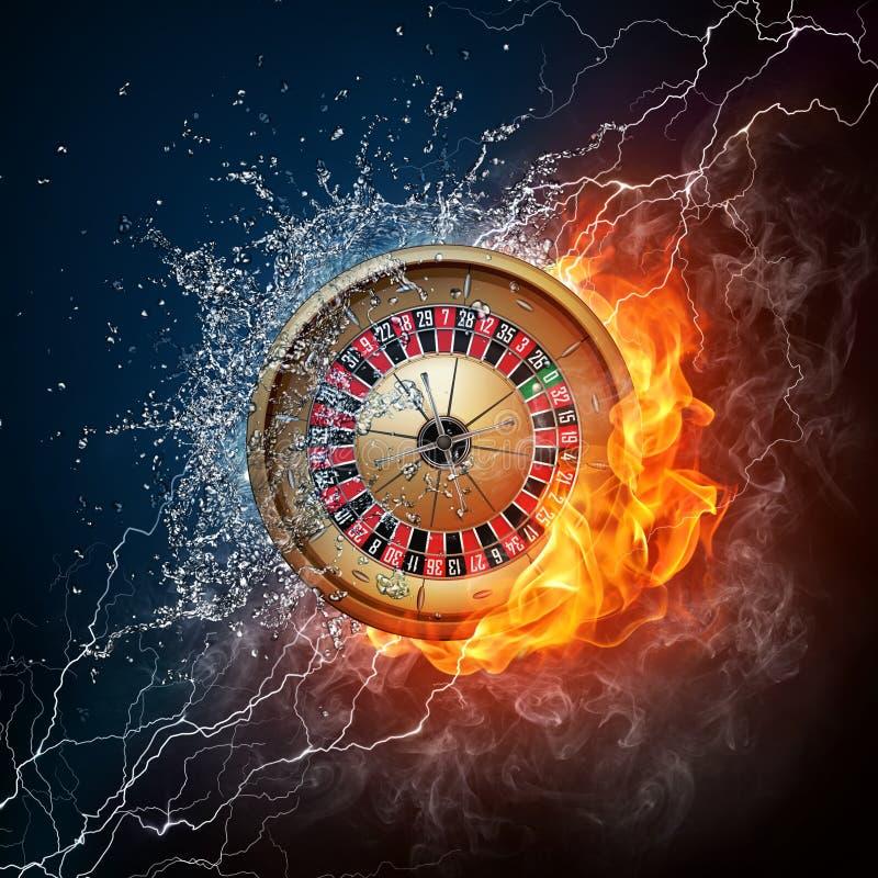 De Roulette van het casino royalty-vrije illustratie