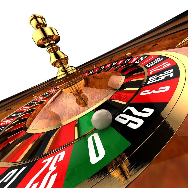 De Roulette van het casino op wit royalty-vrije illustratie