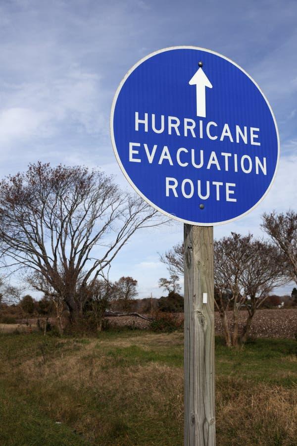 De Route van de Evacuatie van de orkaan royalty-vrije stock foto