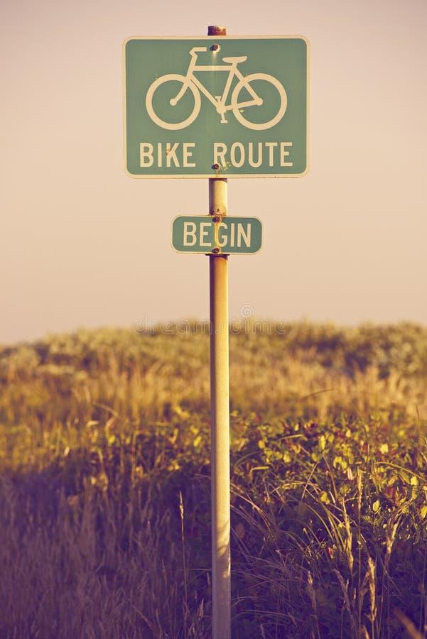 De Route van de fiets begint royalty-vrije stock fotografie