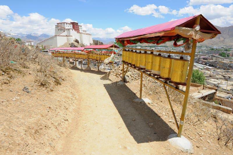 De route van de pelgrim in Tibet royalty-vrije stock afbeeldingen