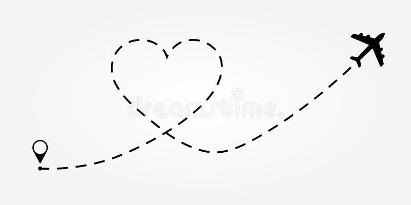 De route van de liefdereis E vector illustratie