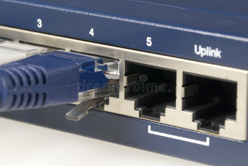 De Router en de Kabel van Ethernet royalty-vrije stock afbeeldingen