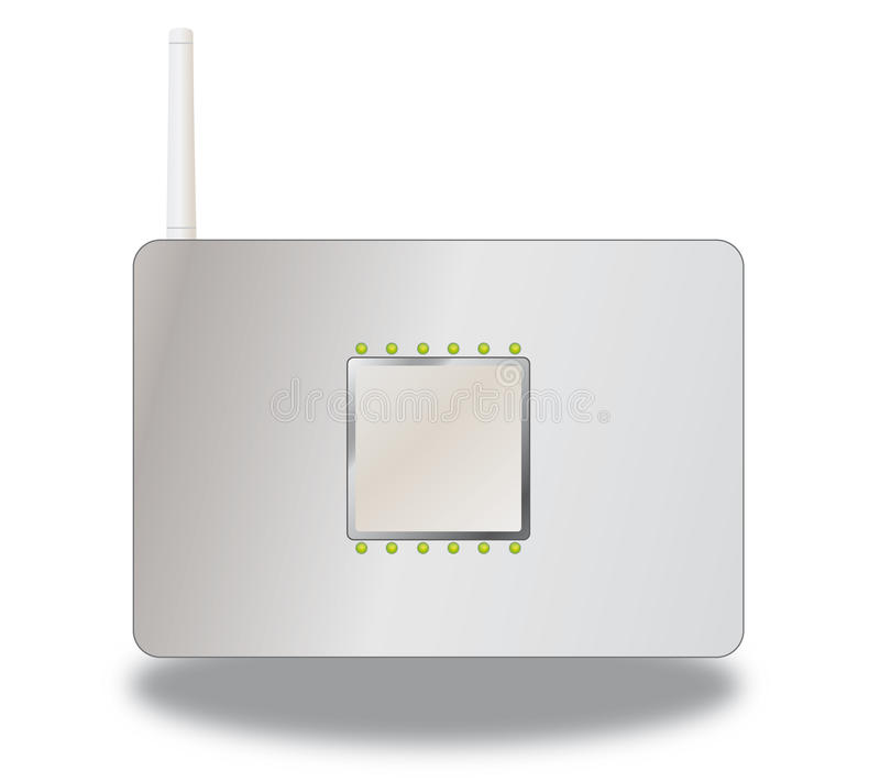 De router van Wlan stock illustratie