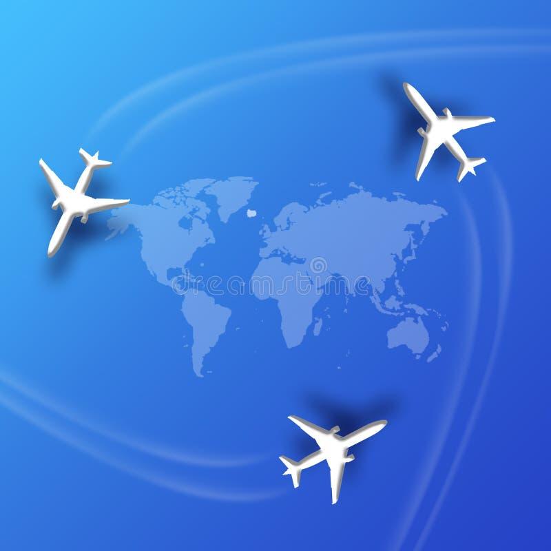 De routes van de luchtvaart vector illustratie