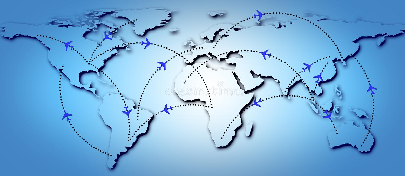 De Routes van de vlucht royalty-vrije illustratie