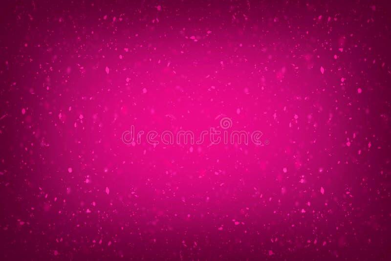 De roze achtergrond met schittert gevolgen toenam kleurenachtergrond met de gevolgen van de giltertextuur royalty-vrije illustratie