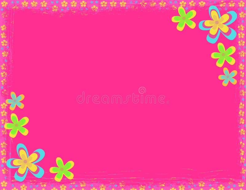 De roze achtergrond van de bloemhippie vector illustratie