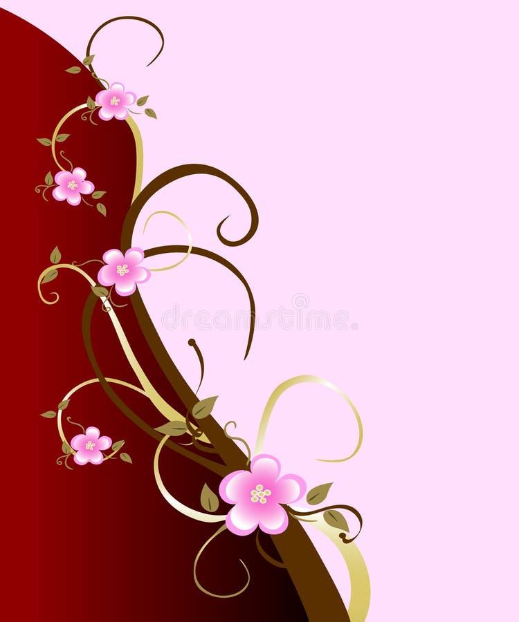 De roze Achtergrond van de Bloesem van de Kers stock illustratie