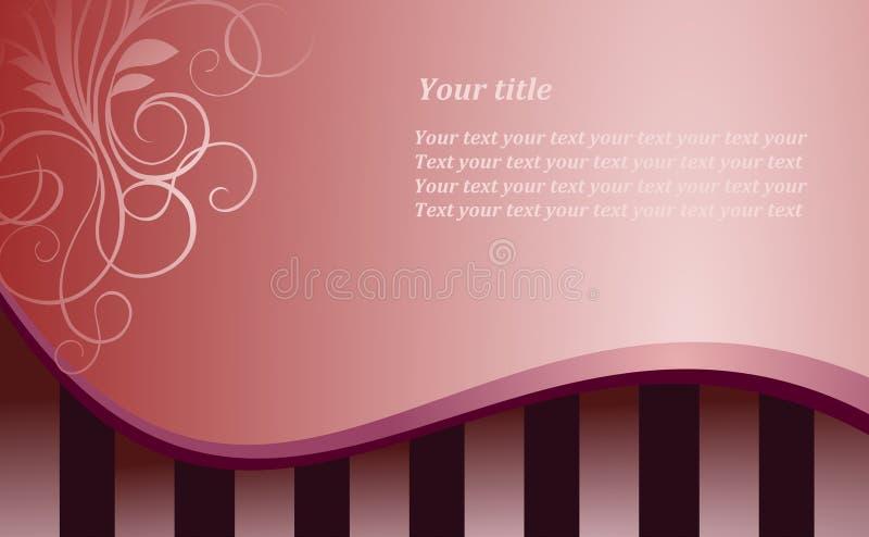De roze achtergrond van de stijl vector illustratie