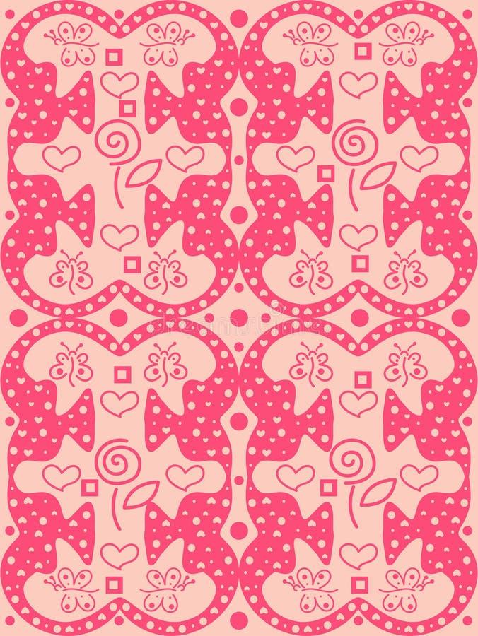 De roze achtergrond van de valentijnskaartendag stock illustratie
