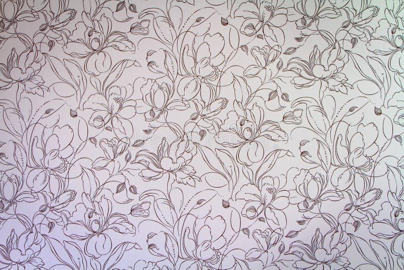 De roze achtergrond van het damast naadloze bloemenpatroon stock afbeeldingen