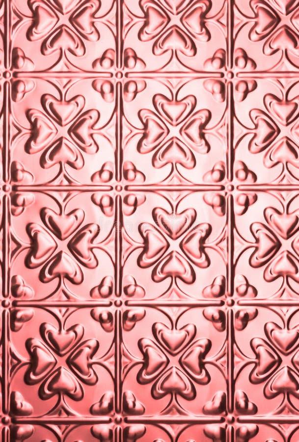 De roze Achtergrond van het Patroon van het Hart royalty-vrije stock fotografie
