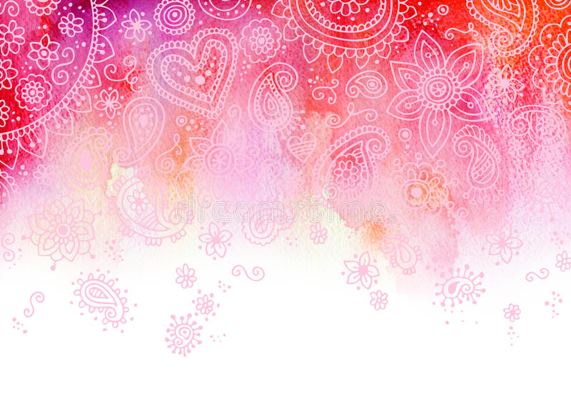 De roze Achtergrond van Paisley stock illustratie