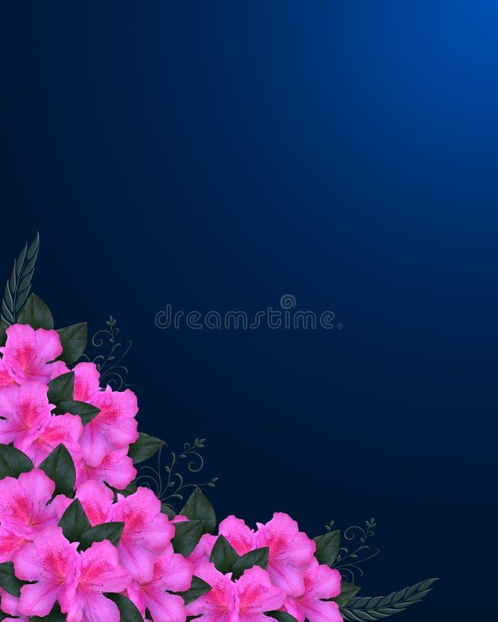 De Roze Azalea's van de Grens van de uitnodiging vector illustratie