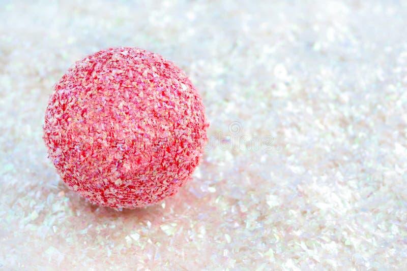 De roze bal schittert  royalty-vrije stock foto