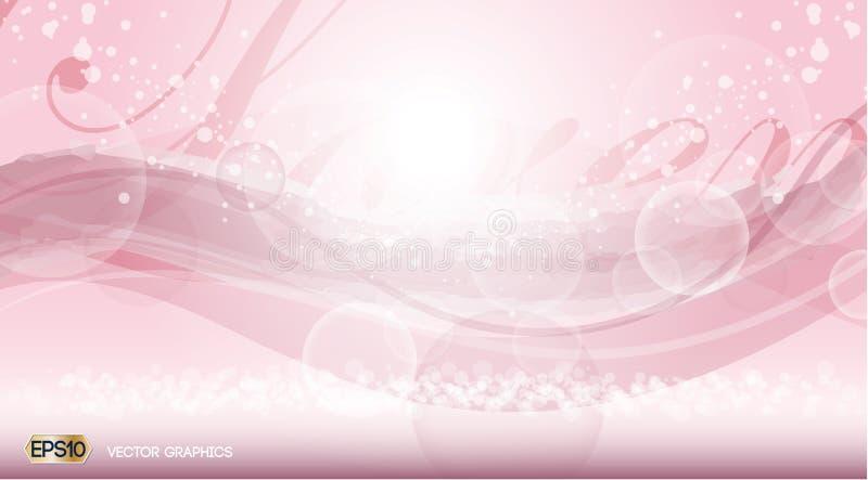 De roze Betoverende achtergrond van geur fonkelende gevolgen Vector illustratie vector illustratie