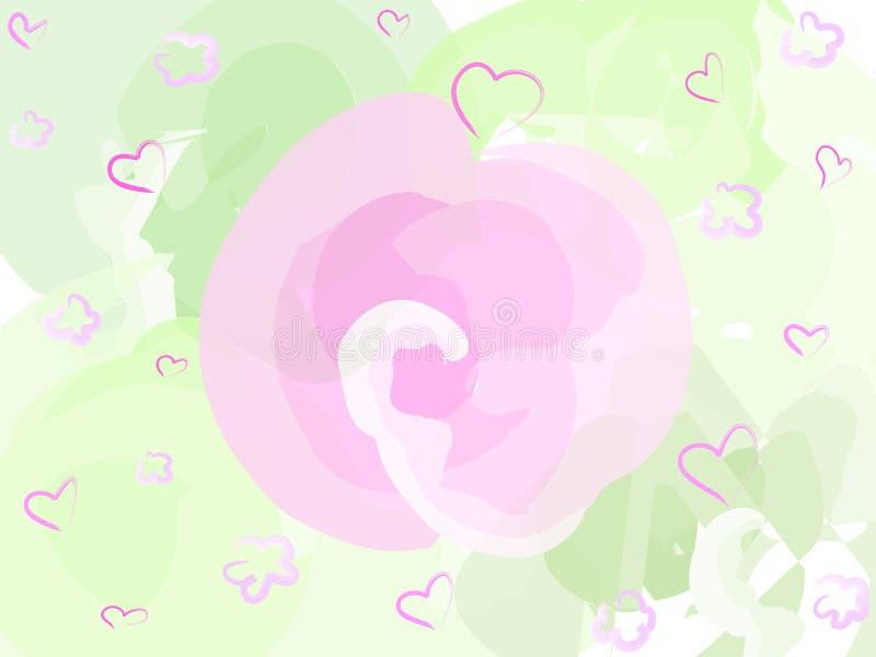De roze bloem van de pastelkleur vector illustratie