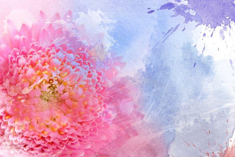 De roze bloem van de waterverf royalty-vrije illustratie