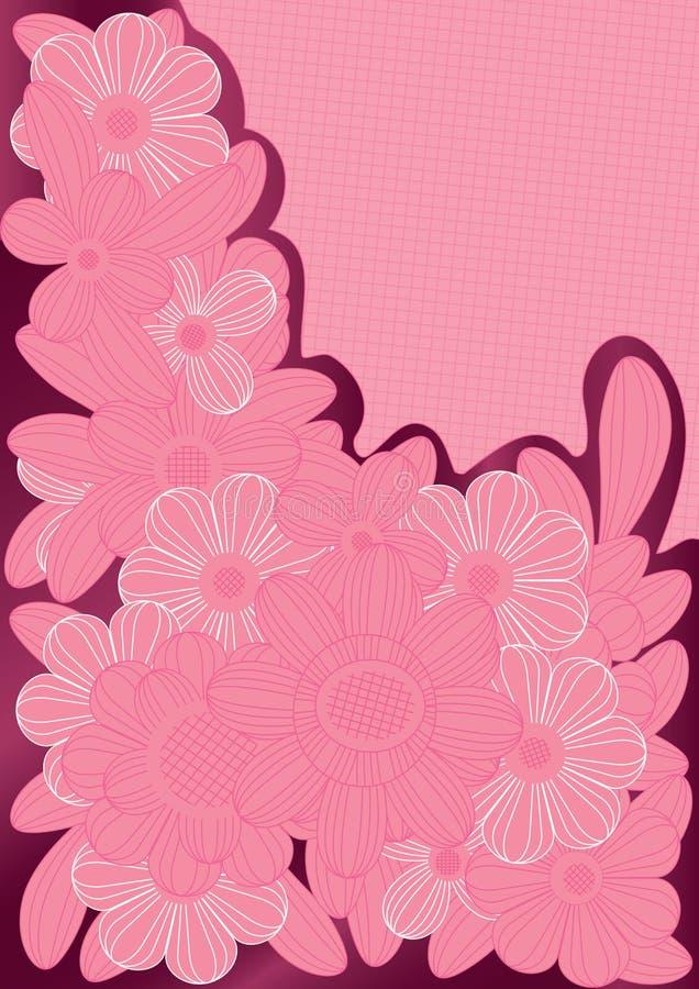 De roze Bloemen van Lijnen royalty-vrije illustratie