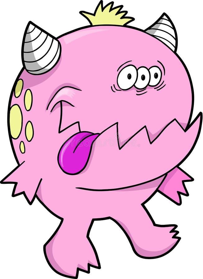 De Roze Duivel Van Het Monster Stock Afbeeldingen