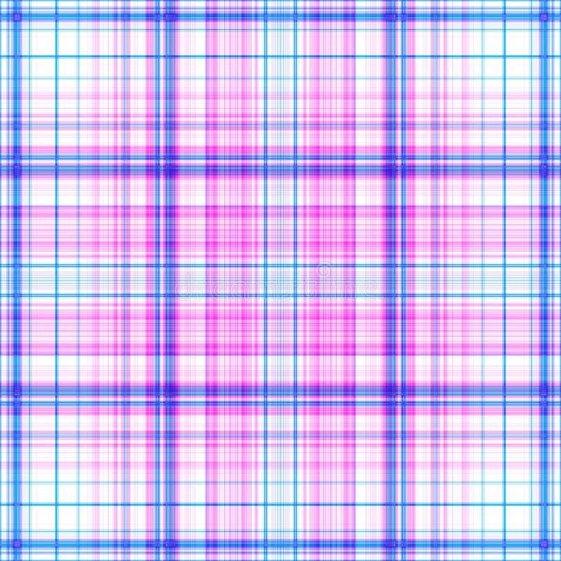 De roze en blauwe achtergrond van het plaidpatroon royalty-vrije stock afbeeldingen