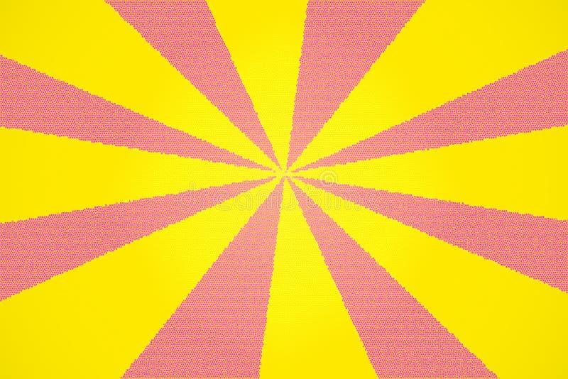 De roze en Gele Achtergrond van het Gebrandschilderd glas stock foto's