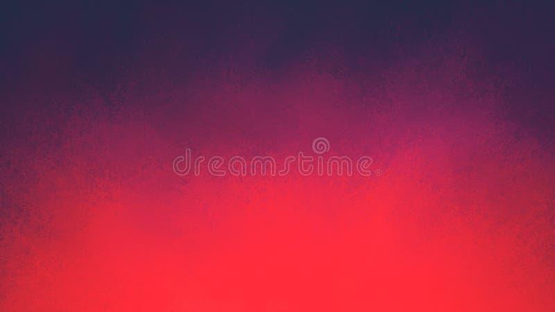De roze en purpere achtergrond van de kleurenplons met donkere purpere blauwe grens en grunge textuur in dramatisch gewaagd ontwe stock illustratie