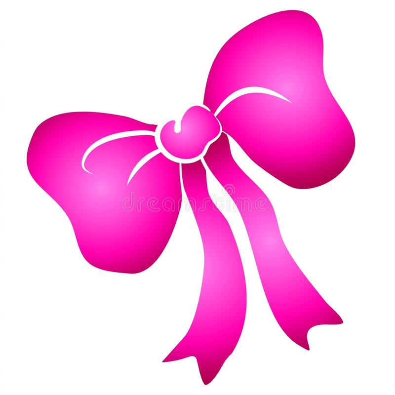 De roze Gebonden Boog Clipart van het Lint vector illustratie