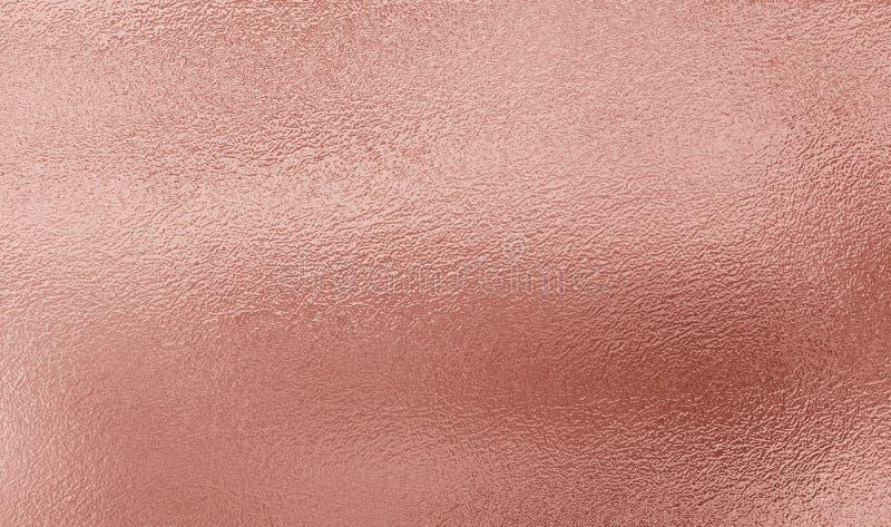 De roze gouden achtergrond van de folietextuur royalty-vrije stock afbeeldingen