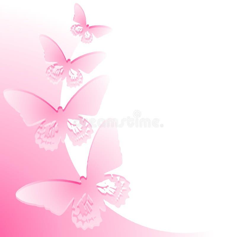 De roze Grens van de Vlinder stock illustratie