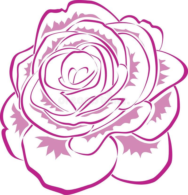 De roze Lijn nam toe vector illustratie