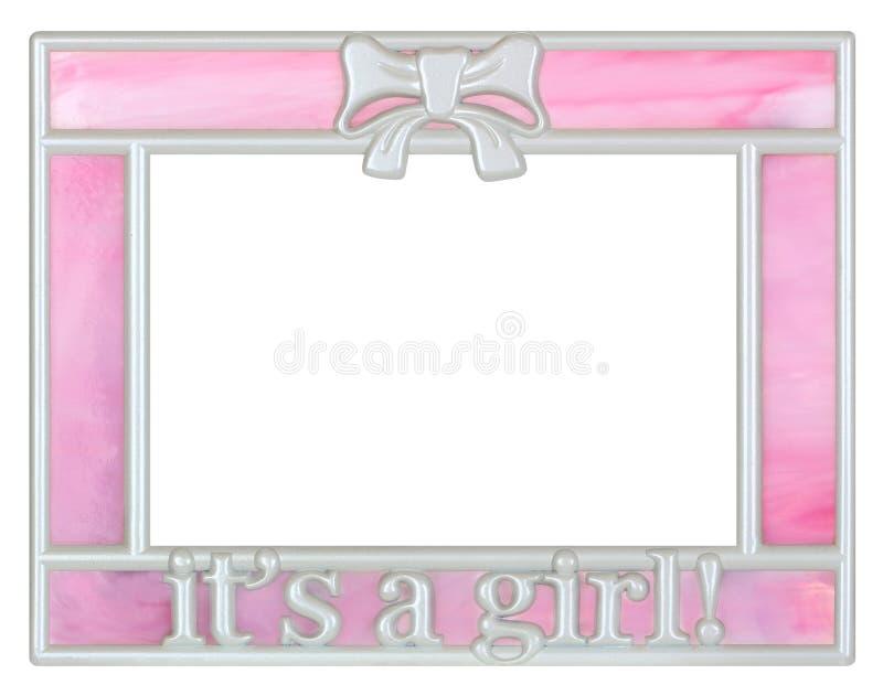 De roze Omlijsting van het Babymeisje royalty-vrije stock afbeeldingen