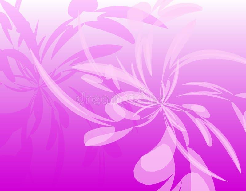 De roze Ondoorzichtige Achtergrond van Veren Wispy vector illustratie