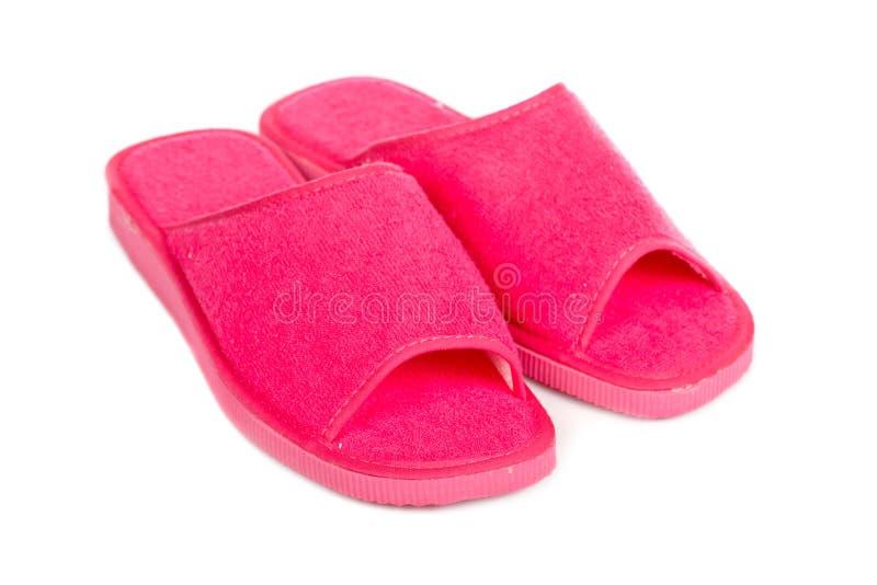 De roze pantoffels van de dame royalty-vrije stock foto's