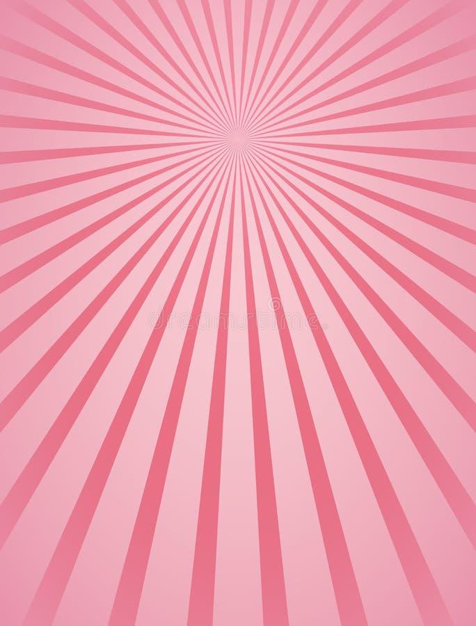 De roze radiale achtergrond van stralen abstracte lijnen girly royalty-vrije illustratie