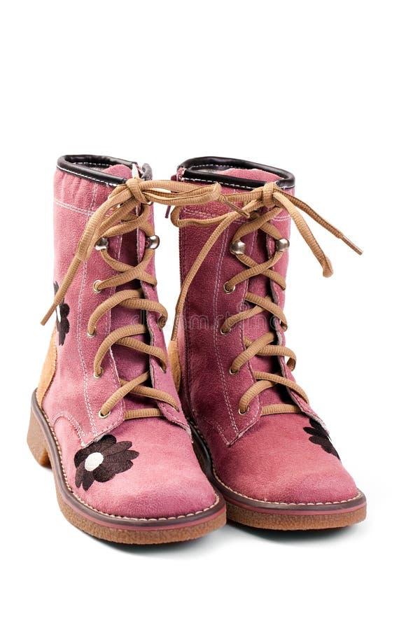 De roze schoen van het kind royalty-vrije stock afbeelding