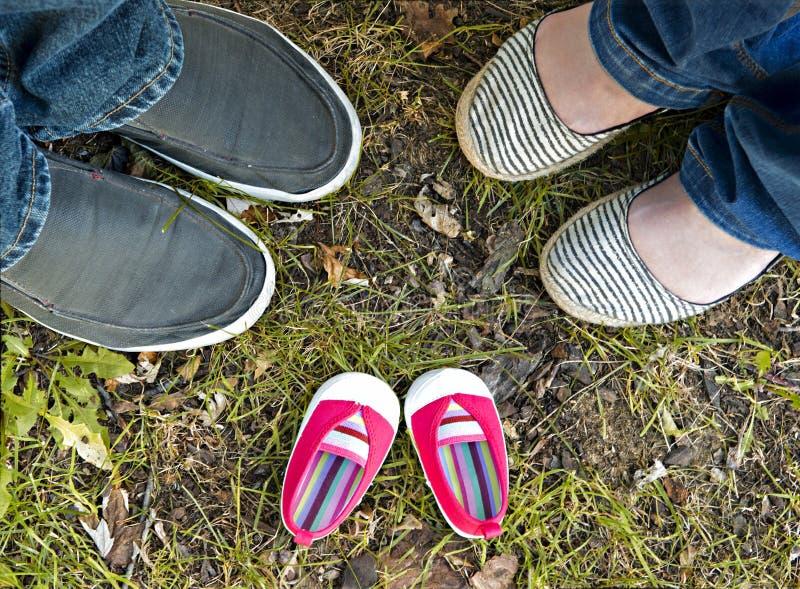 De roze Schoenen van de Baby stock foto's