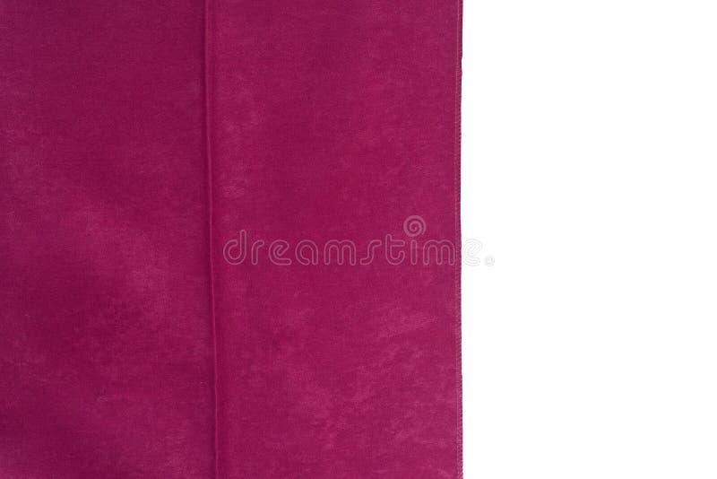 De roze steekproef van de gordijnstof Gordijnen, de stoffering van Tulle en van het meubilair stock foto