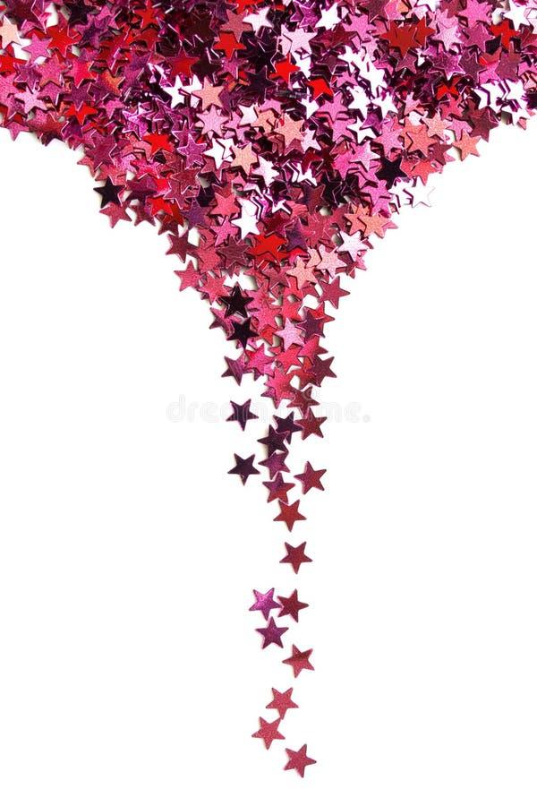 De roze sterren schitteren stock afbeeldingen