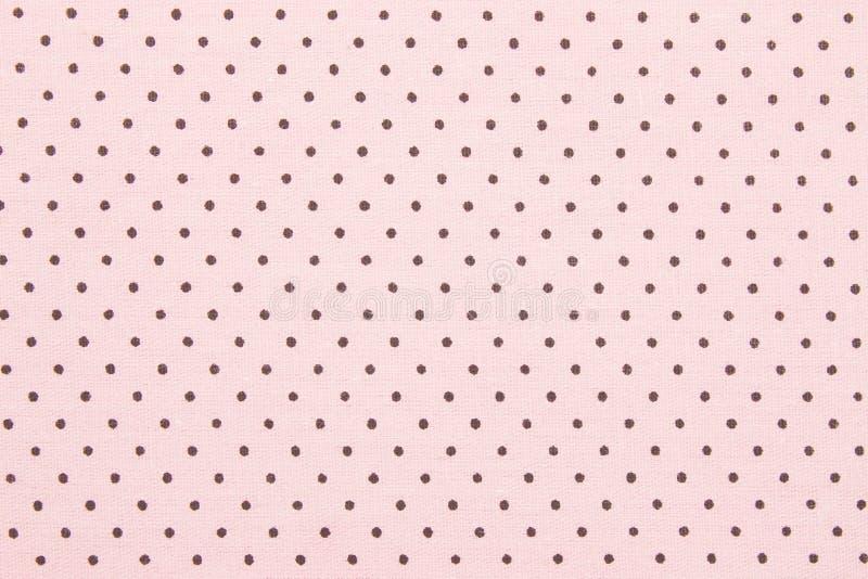 De roze Stof van de Stip stock afbeelding