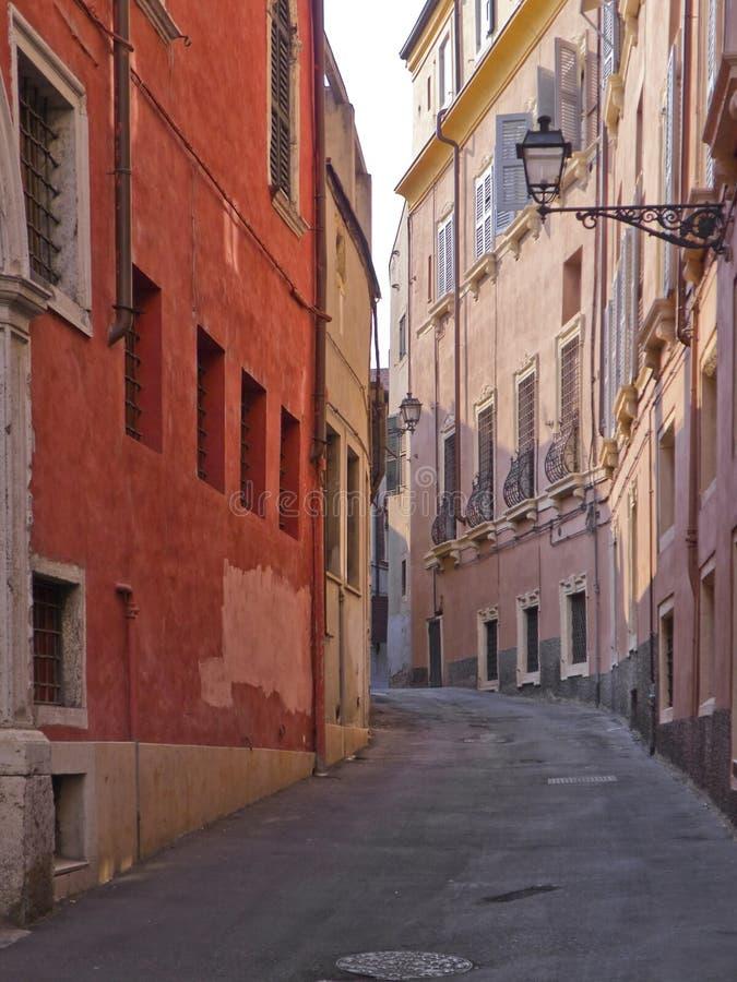 De roze straat. stock afbeeldingen