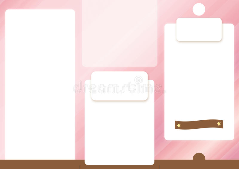 De roze uitgespreide Voorzijde van het brochuremalplaatje royalty-vrije stock foto