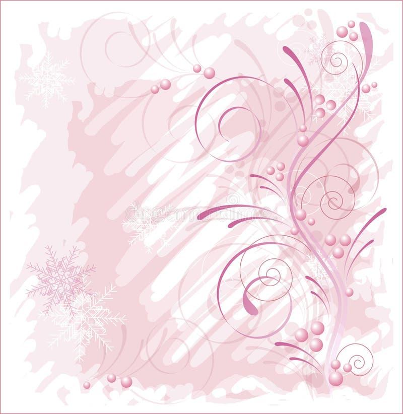 De roze winter vector illustratie