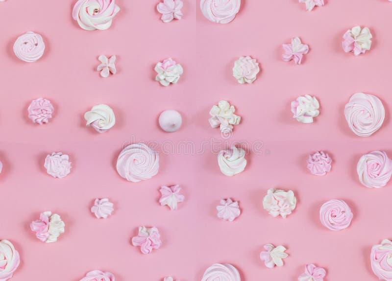 De roze Zoete Vlakte van de de Partijpastelkleur van de Patroonverjaardag lag stock foto's