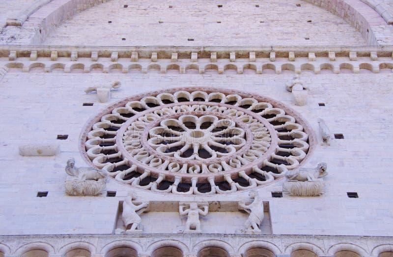 De Rozet van de basiliek van San Francesco stock afbeelding