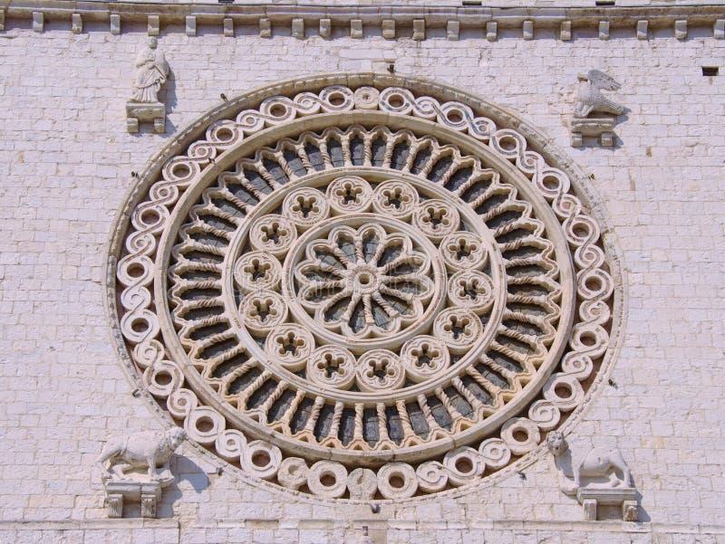 De Rozet van de basiliek van San Francesco royalty-vrije stock foto's