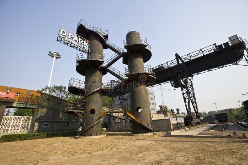 De ruïne van de industrie stock afbeelding