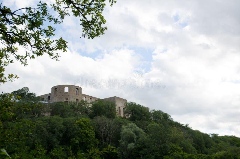 De ruïne van het kasteel stock foto's